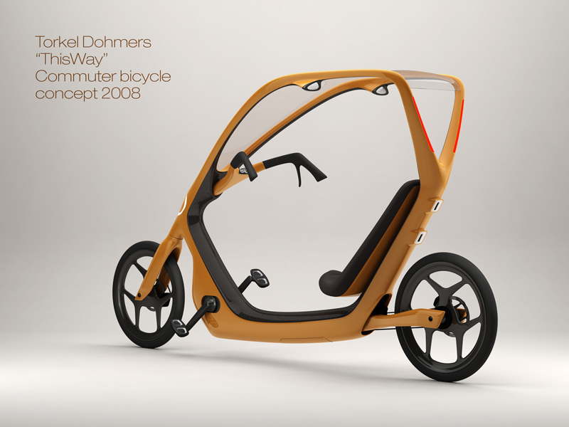 "Torkel Dohmers ""ThisWay"" covered bicycle design"
