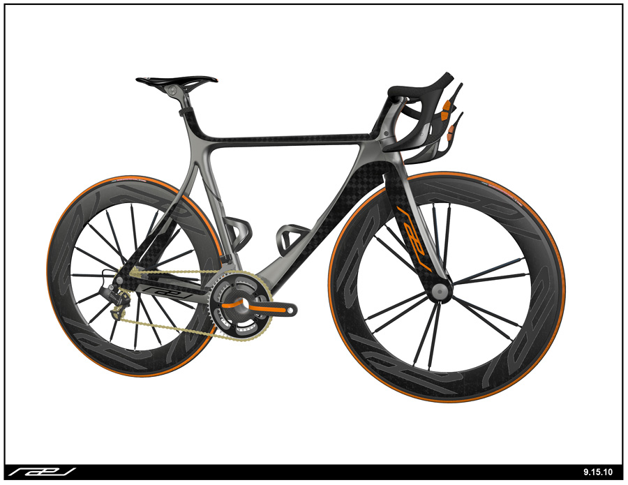 rael concept road bike with cerevellum hindsight rear view camera and custom shimano di2 electronic shifting