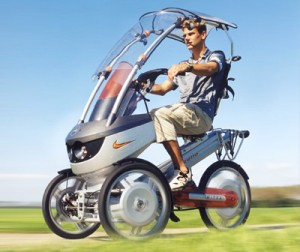 Mitka Concept electric tricycle by Nike, Gazelle, Delft University