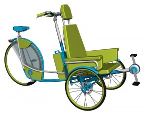 DuoCycle trike design for riders with disabilities