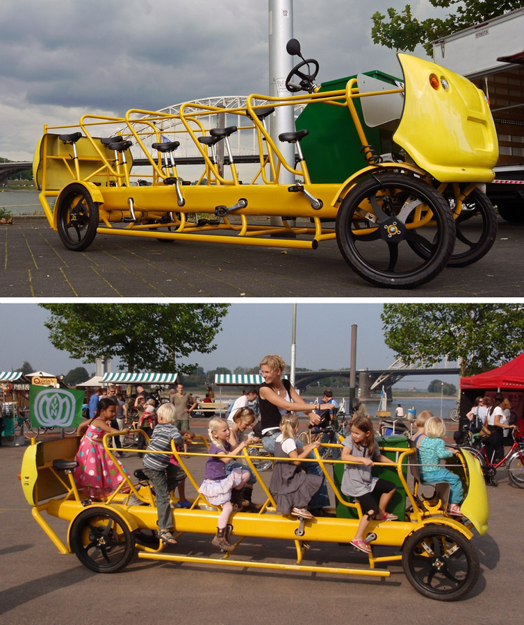 Fietsbus- a pedal powered school bus