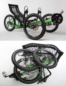 Azub folding recumbent tricycle design