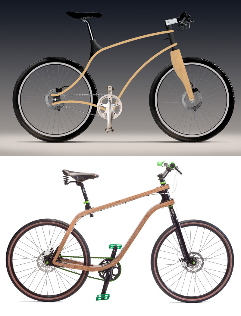 2 bent ply bike renderings compared