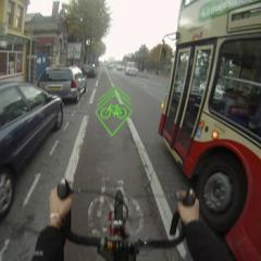 Blaze- a handlebar mounted laser bike lane
