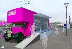 Cyclehoop Better Bankside Bikeshed design contest entry