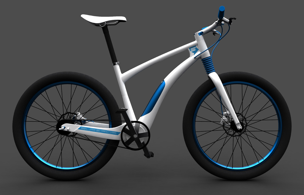 Vojtech Sojka e-bike rendering side