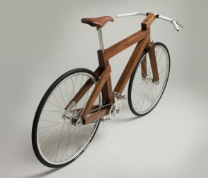 Lagomorph wooden bicycle