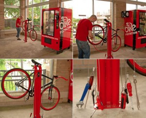 Bicycle vending machine and repair station