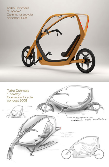 Torkel Dohmers' ThisWay concept bike- winner of the 2008 bicycle design competition