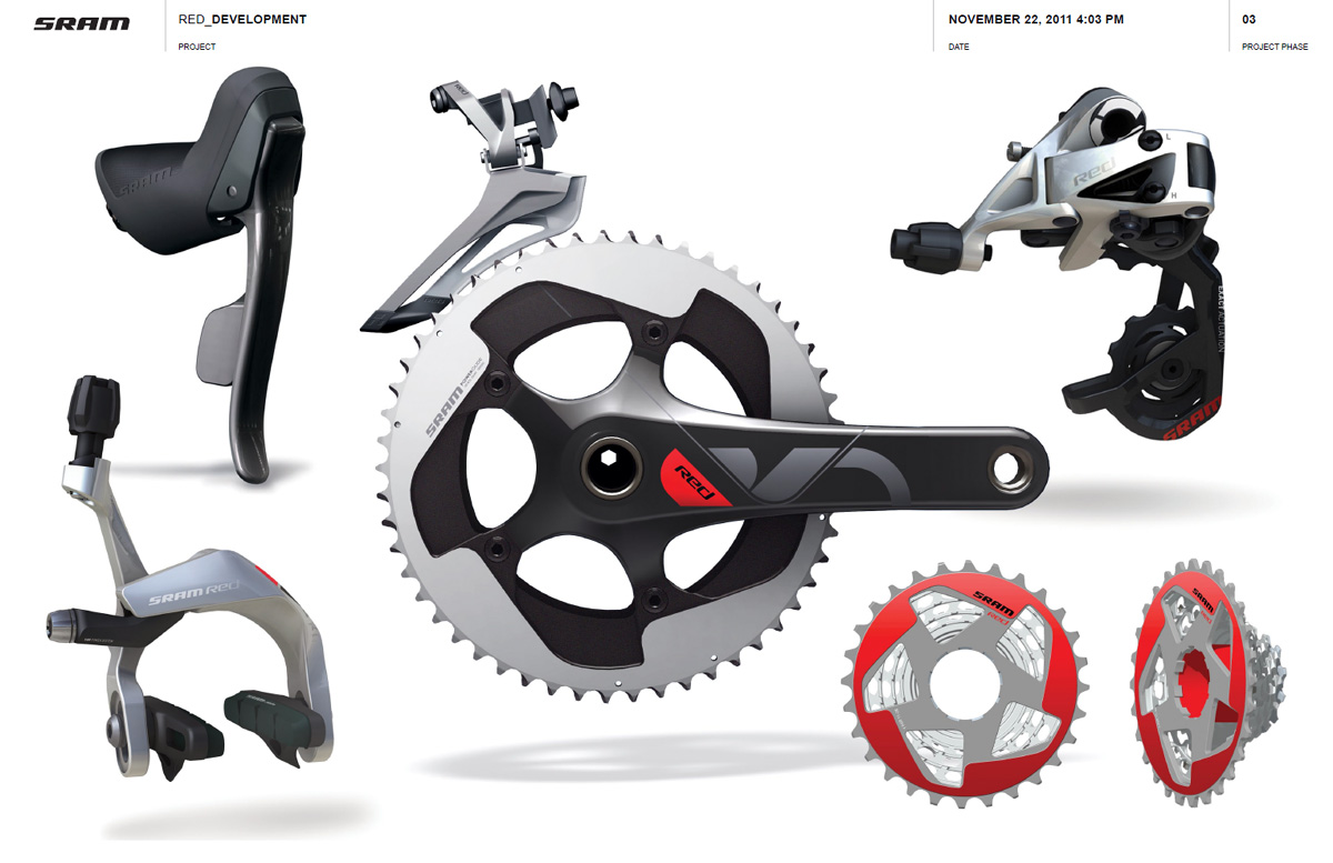 SRAM Red 2012 design concept board