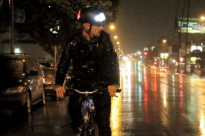 Torch LED bicycle helmet by Nathan Wills