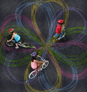 Chalktrails bicycle toy