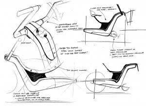 Bicycle concept sketches by Richard Heath