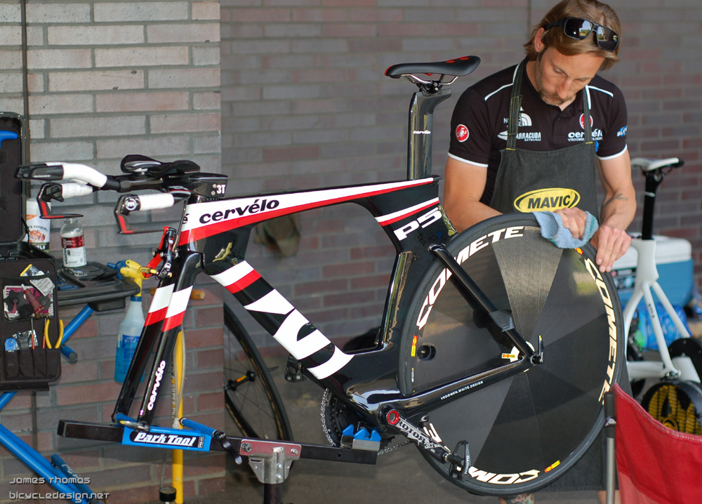 Dave Zabriskie's US Pro winning Cervelo P5 time trial bike