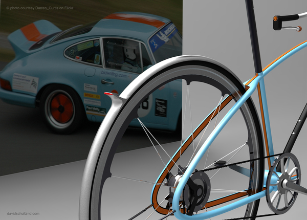 Porsche concept bike designed by David Schultz