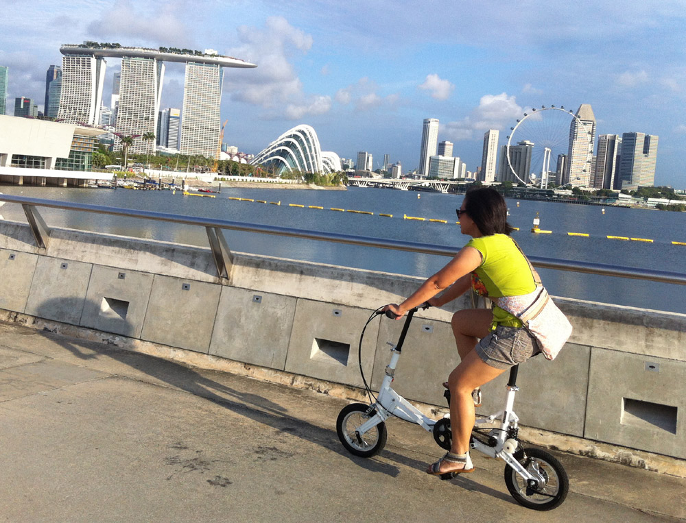 Win a compact folding bike like this one