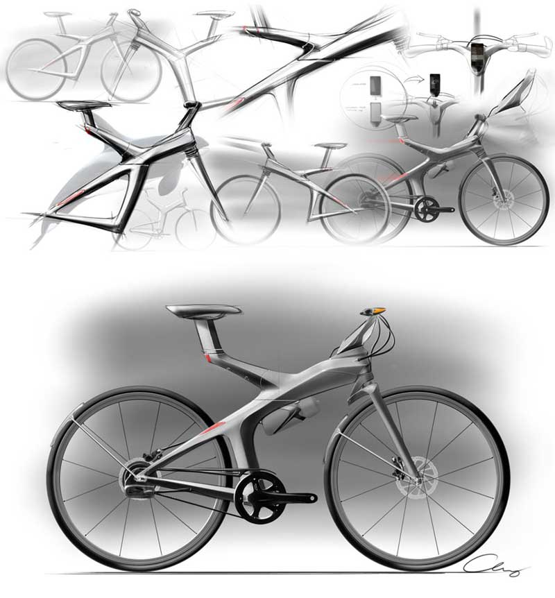 Sheng-Chieh Chang's urban electric bike sketches