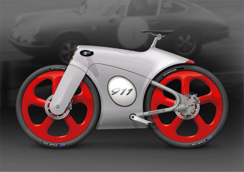 porsche bicycle concept by Bastiaan Kok