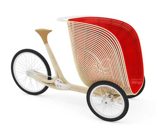 bamboo cargo trike by Antoine Fritsch