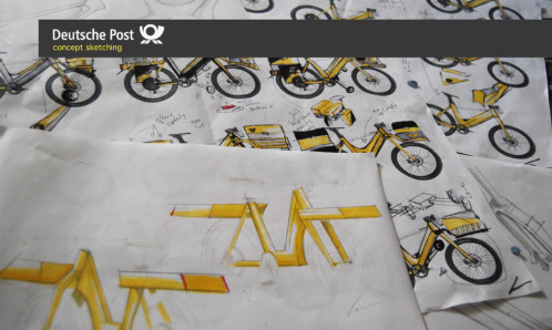 Deutsche-Post-ebike-sketches