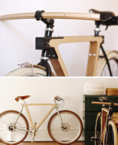 BSG WOOD.B bike design by Thierry Boltz and Claude Saos