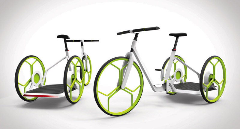 eins.plus- a hybrid electric tricycle by Peter Kutz