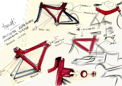 Alfa Romeo 4C IFD bicycle sketches