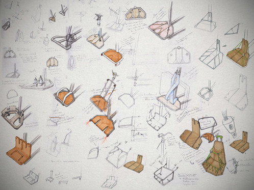Bag Rack sketches by Dimitris Niavis