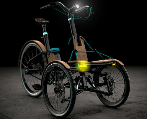 Front lights- Kaylad-e trike concept by Dimitris Niavis