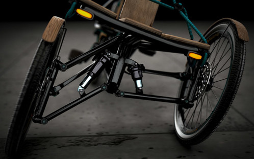 Tilting suspension- Kaylad-e trike concept by Dimitris Niavis