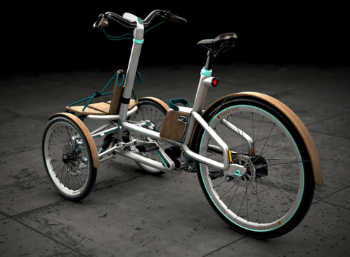 Kaylad-e electric trike in white