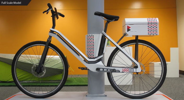 Prototype of Harvolt electric share bike by  Matthew Harding