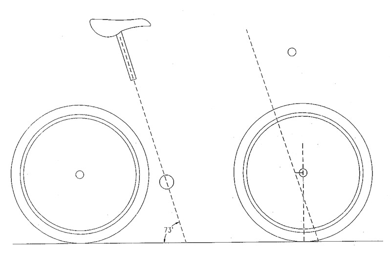 Sketch template for a mountain bike
