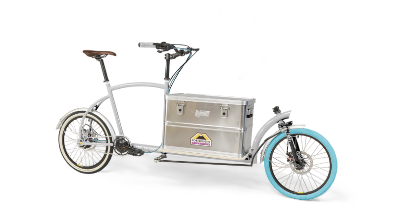 Porterlight Bicycles Bringley Cago Bike - White with Metal Aluminium Box