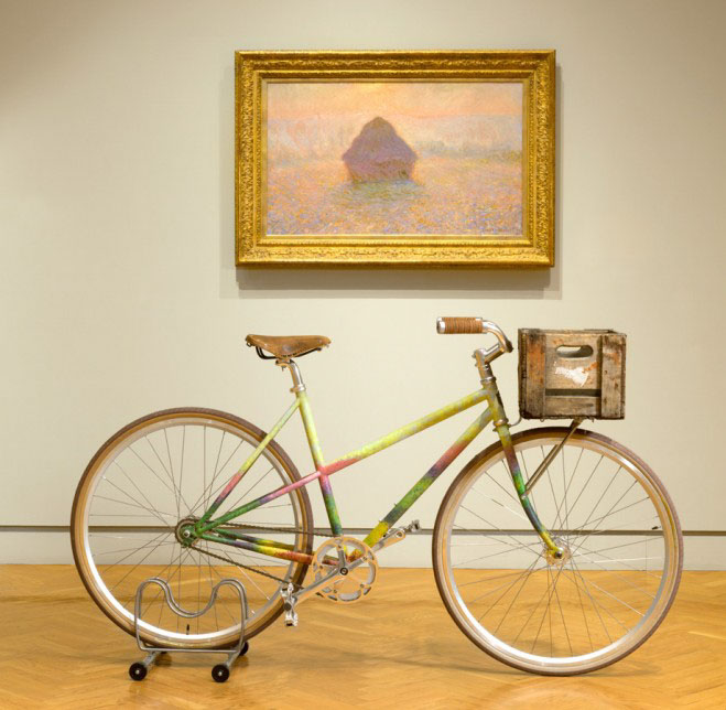 Art bikes by handsome cycles at the minneapolis institute for Bicycle painting near me