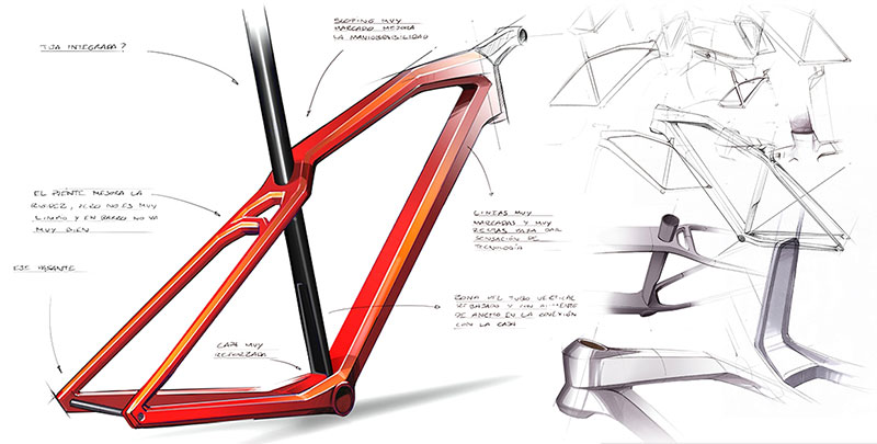 Cero Bike Frame Sketch